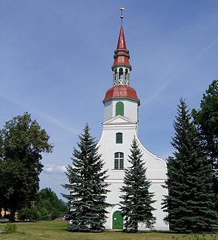 Valkas luterāņu baznīca - skatu tornis
